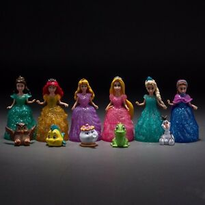 6pcs-Princess-Elsa-Anna-Cinderella-Aurora-Belle-Rapunzel-With-Pets-Figures-Toy