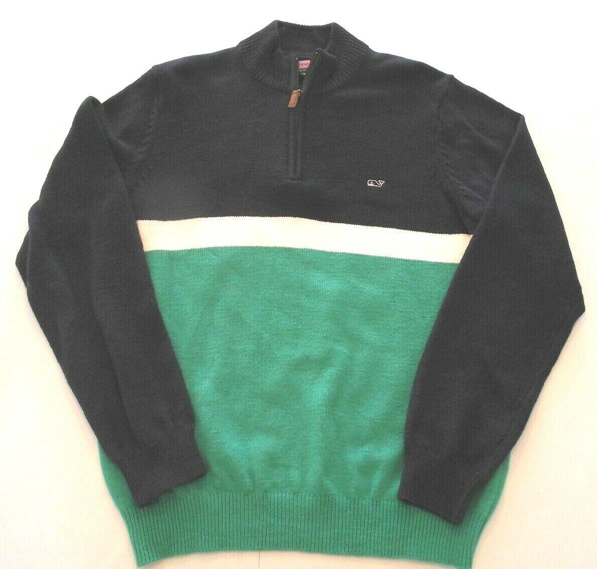VINEYARD VINES Men's Medium Navy Green Sweater (s)