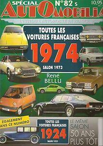 AUTOMOBILIA-82-S-LES-VOITURES-FRANCAISES-1974-SALON-1973-et-1924-SALON-1923