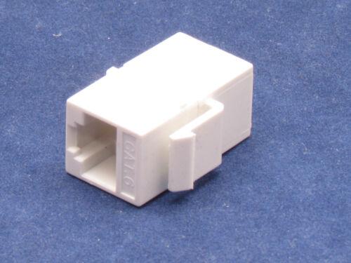 50 pcs Lot CAT6 Inline RJ45 Keystone Wall Coupler Jack Adapter 8P8C White 6e