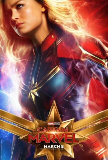 New Captain Marvel Movie 2019 Hot Brie Larson Marvel 8x12 24x36 Silk Poster N185
