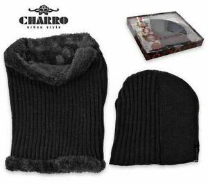 CHARRO Hot Beanie Hat Winter + Neck Warmer Thermal Fur Internal