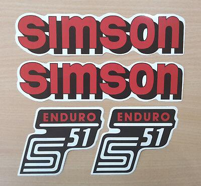Aufkleber S50 B rot für SIMSON Seitendeckel Klebefolie