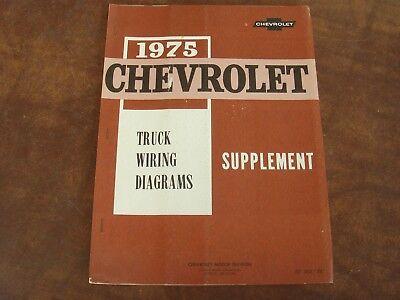 OEM 1975 Chevrolet Truck Wiring Diagrams Supplement ST 352 ...