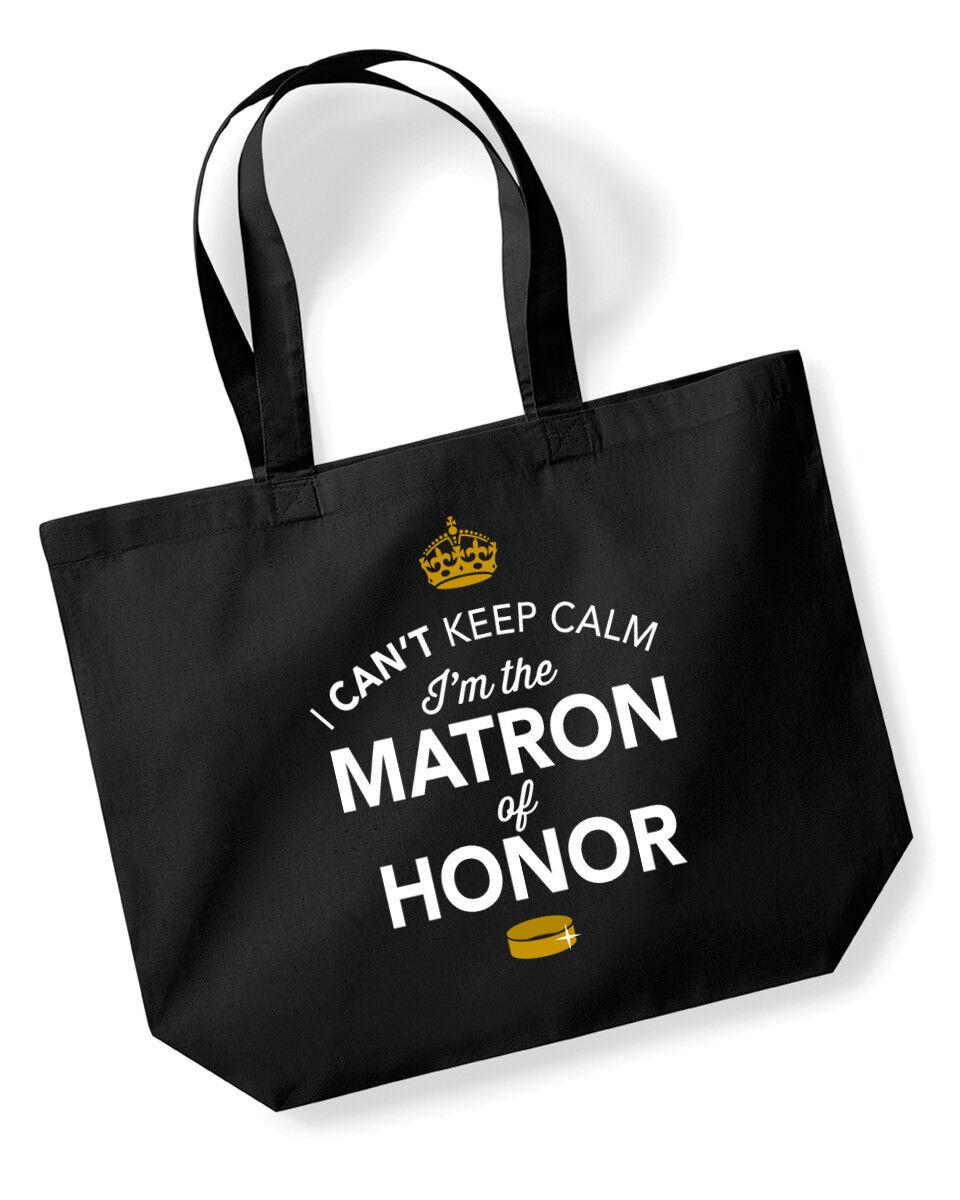 Matron Of Honor Gift Idea Wedding Hen Party Bridal Bag Handbag Present Keepsake