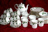 COLCLOUGH  ' IVY LEAF ' TEA SET AND TABLEWARE - ENGLISH BONE CHINA