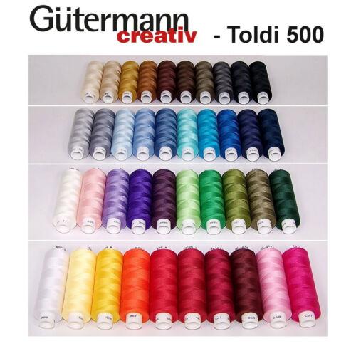 Set coudre Gütermann Toldi 500 M tout plus près libre sélecteur de couleurs garnset Cadeau