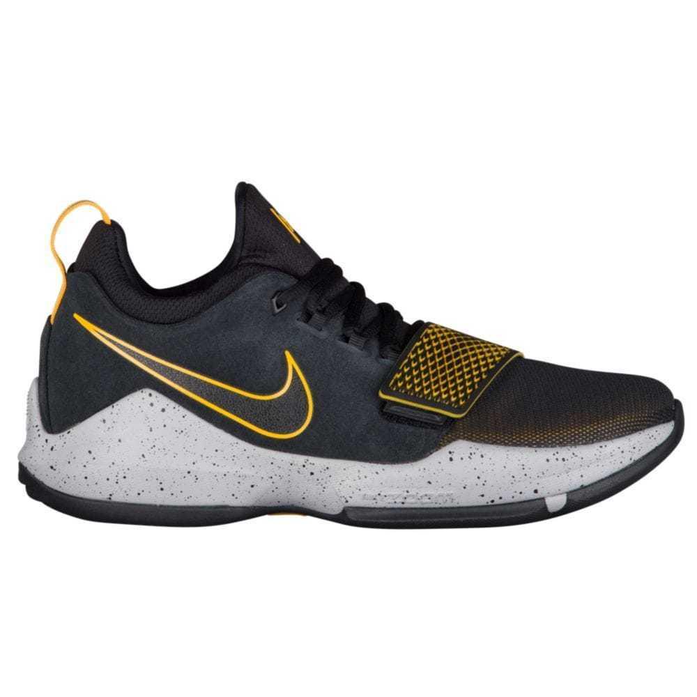 Nike PG 1 hombre 878627-006 negro gris zapatos Universidad de baloncesto de la Universidad zapatos de oro tamaño 11,5 847807