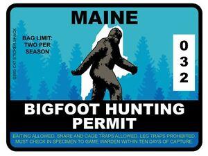 Bigfoot-Hunting-Permit-MAINE-Bumper-Sticker
