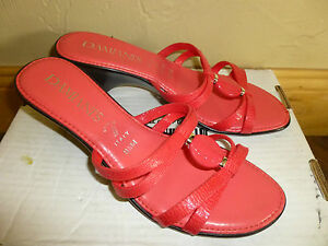 2886b732964fd3 DAMIANI S ROSALIE SALMON Strappy Sandals Heels BEADED 9.5 NEW Super ...