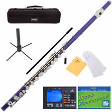 NEW MENDINI PURPLE STUDENT C FLUTE +Everything You Need