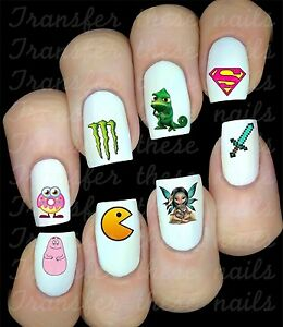 Autocollant-Stickers-ongles-manucure-melange-water-decal-deco-nail-art-30-Offert