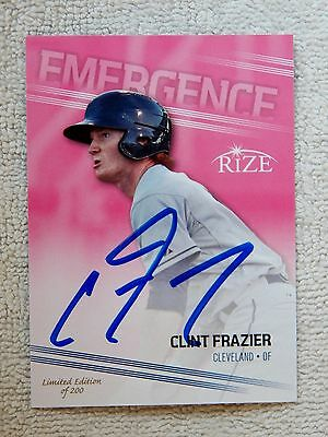 Cleveland Indians Clint Frazier Signed 2013 Leaf Rize Pink Auto Card #/200