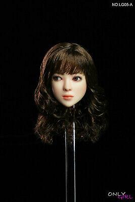 """Onlygirl LG05 1//6 Testa modello mobile Donna ragazza OCCHI TESTA F 12/"""" corpo Pallido"""
