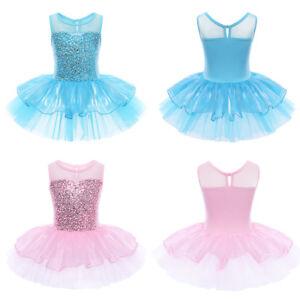 Mädchen Ballettkleid Tütü Ballett Kleid Tanzen Trikot Ballettanzug Partykleid