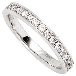 Anillo-con-17-Diamantes-Brillantes-Oro-Blanco-585-Diamantenring-Mujer-de