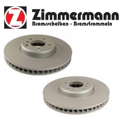 For BMW F01 F02 740i 740Li Set Of 2 Front Disc Brake Rotors Zimmermann