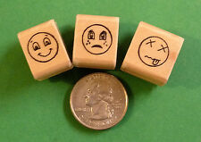 Expressions Smiley Face Set of 3, MINI Size, Teacher's Rubber Stamps Set