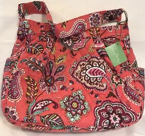 00df3c84a835 Details about Vera Bradley Retired Call Me Coral Reversible Tote Bag Purse