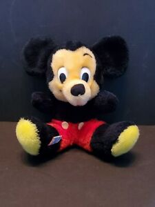 VINTAGE-Mickey-Mouse-Beanbag-Plush-Stuffed-Walt-Disney-Korea-Productions-9-034
