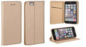 Flip-Handy-Tasche-Huelle-Etui-Book-Case-SMART-Asus-ZenFone-Live-ZB501KL-Gold