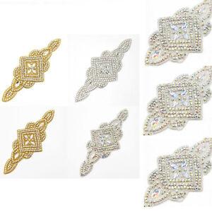 DIY-Craft-Crystal-Rhinestone-Beaded-Applique-Wedding-Bridal-Dress-Belt-Sash-Hot
