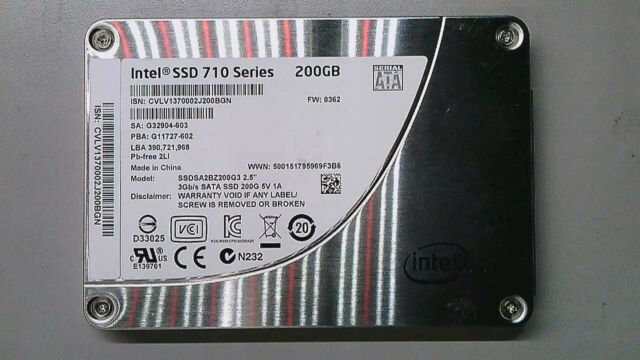 Intel 710 SERIES SSD 200GB SATA 2.5'' 3G SSD SSDSA2BZ200G3