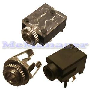 3.5 mm Mono, Stereo PCB, chassis Presa Jack (switch)
