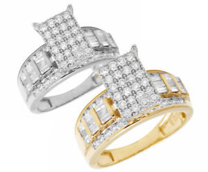 Image Is Loading 10K Yellow White Gold Real Baguette Diamond Cinderella