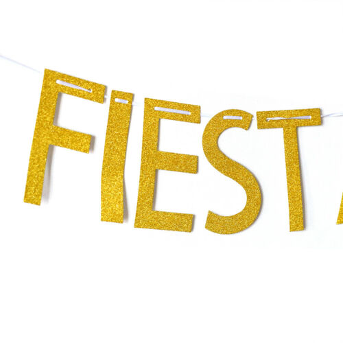 Let/'s festa bitches banner mexican carnival party decor glitter paper bunting TC