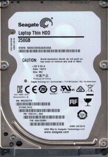 """Seagate 250GB 250 GB ST250LT012 2.5/"""" 7MM HDD Laptop SATA 5400rpm Hard Drive"""