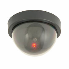 Fake Dome CCTV Outdoor Security Camera -Flashing Red Decoy Led - Realistic Dummy