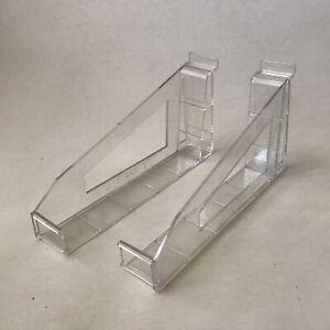 Kas-Adjustable-Holder-Pair-Slatwall-Shelf-Photo-Frames-Shop-Display-Clear