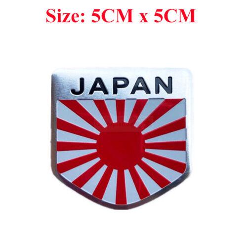 JP JAPAN Flag Racing Badge Metal Side Rear Trunk Emblem Decal Sticker Car JP Car