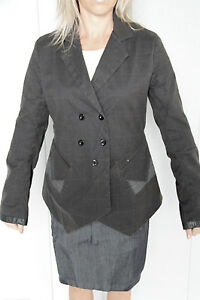 carino-giacca-elegante-scozzese-donna-M-F-GIRBAUD-britchick-TAGLIA-L-NUOVA-val