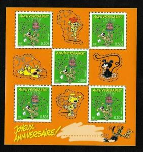 Bloc-Feuillet-2003-N-58-Timbres-France-Neufs-Marsupilami