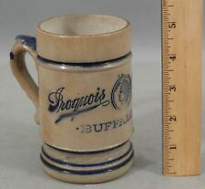 Antique 1895 Whites Utica Stoneware Iroquois Indian Buffalo NY Advertising Beer