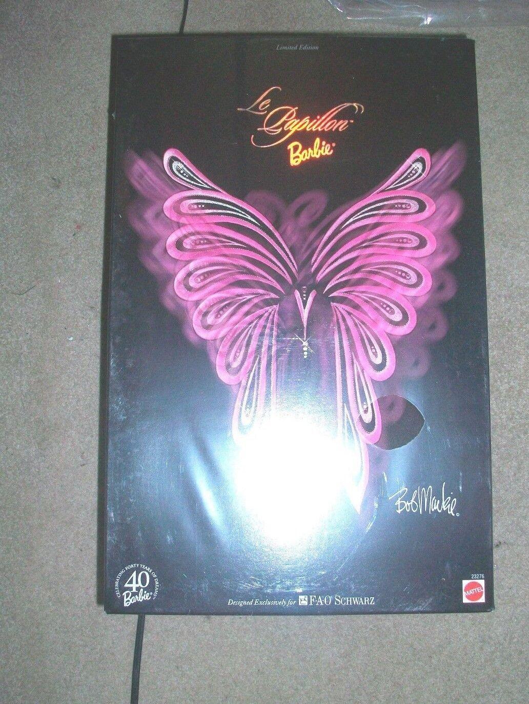 Le Papillion Barbie 1999 edición limitada de la FAO Bob Mackie Altamente Coleccionable