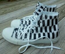 Women's 9 Converse x Marimekko Ishimoto Black Striped Hi Top Athletic Shoes NEW
