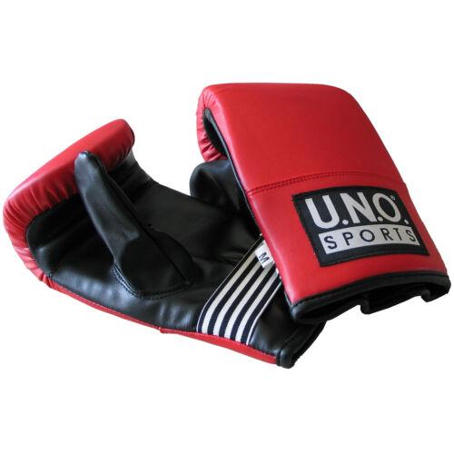 schwarz rot U.N.O.Ballhandschuhe Boxhandschuhe Boxsackhandschuhe Größe L