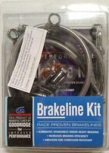 Dual-Disc-ABS-Front-Brake-6-Line-Kit-Goodridge-Coated-Stainless-Harley-FL-08-10