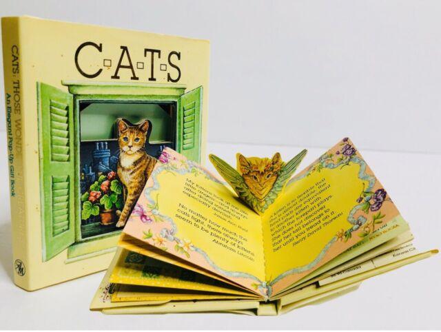 Cats Those Wonderful Creatures Mini Pop Up Book w/ Dust Jacket 1994 RARE