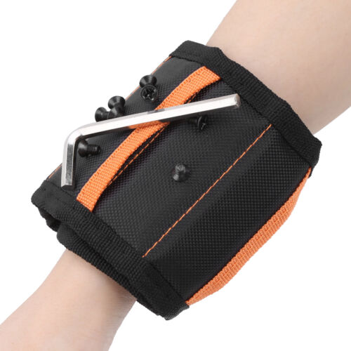 1X 5 Row Magnetic Wristband Portable Pocket Style Wrist Support Belt Accessories