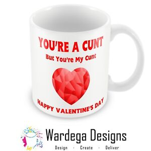 Perfect Valentines Day Gift Mug Boyfriend Husband Rude Funny Wife