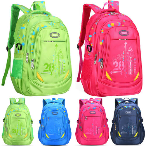 Kids Children Waterproof Backpack Boys Girls School Bags Large Bookbag Rucksack