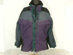 Solstice Womens Coat Medium Purple Gray Full Zip Microshed
