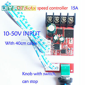 Details about High-Power Motor Governor LED Dimmer 10V-50V Speed 15A With  Switch GZT AU
