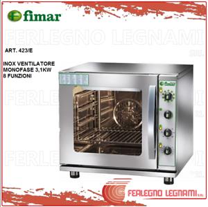 Forno Gastronomia Elettrico 8 Funzioni Monofase Fimar Fn423/e Blanc De Jade