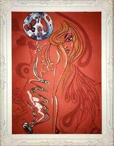 Margarita Bonke Malerei PAINTING erotic EROTIK FRAU WOMEN art Rot Red Nu Akt A3