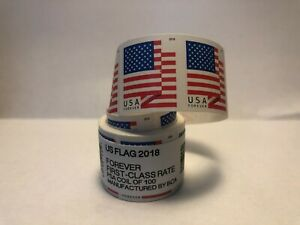 2018 USPS Forever Stamps US Flag 100 stamps per coil